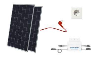 Balkonkraftwerk, Mini-Solaranlage, Plug and Play, 560