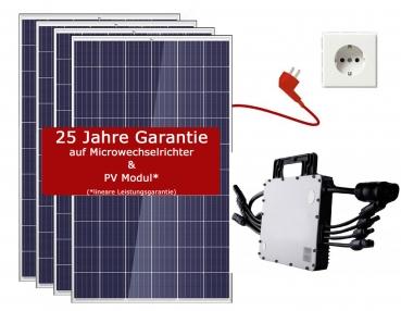 1100W Balkonkraftwerk Trina Solar - PV-Anlage - (4xTrina Solar, 1xHoymiles  MI-1200, Gratis 2 Paar PV-Verlängerungskabel)