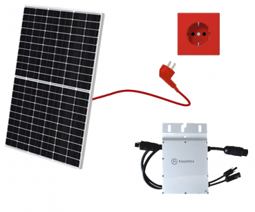 Balkonkraftwerk 325, Mini-Solaranlage, Plug and Play