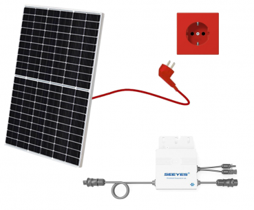 Balkonkraftwerk, Mini-Solaranlage, Plug and Play, 325