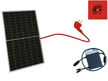 Balkonkraftwerk 335 Wp JA Solar, Mini-Solaranlage, Plug and Play