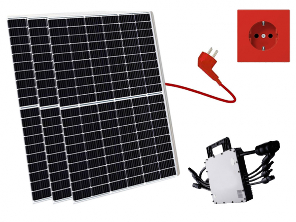 Balkonkraftwerk 975W Canadian Solar, Mini-Solaranlage, Plug and Play