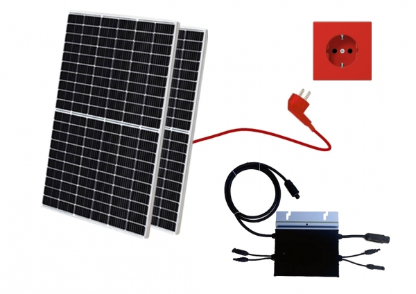 Balkonkraftwerk, Mini-Solaranlage, Plug and Play, 650