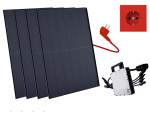 Balkonkraftwerk 1320W Trina Solar Elegance Full Black, Mini-Solaranlage, Plug and Play