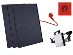 Balkonkraftwerk 990W Trina Solar Elegance Full Black, Mini-Solaranlage, Plug and Play